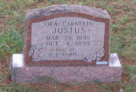 JUSTUS, ORA CARNELIA - Lawrence County, Arkansas | ORA CARNELIA JUSTUS - Arkansas Gravestone Photos