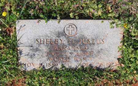 JUSTUS (VETERAN WWI), SHELBY HODGE - Lawrence County, Arkansas | SHELBY HODGE JUSTUS (VETERAN WWI) - Arkansas Gravestone Photos