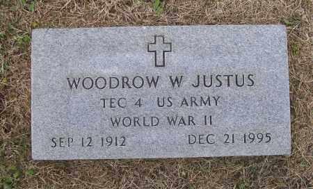 JUSTUS (VETERAN WWII), WOODROW WILSON - Lawrence County, Arkansas | WOODROW WILSON JUSTUS (VETERAN WWII) - Arkansas Gravestone Photos