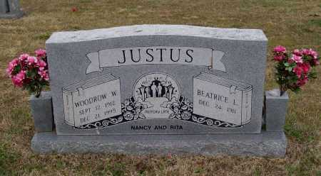 JUSTUS, WOODROW WILSON - Lawrence County, Arkansas | WOODROW WILSON JUSTUS - Arkansas Gravestone Photos