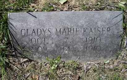 KAISER, GLADYS MARIE - Lawrence County, Arkansas | GLADYS MARIE KAISER - Arkansas Gravestone Photos