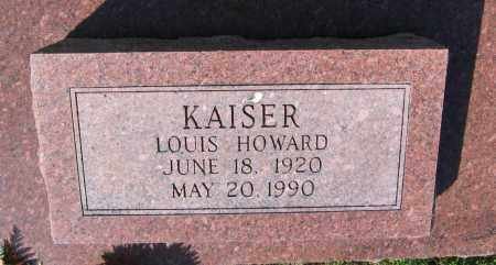KAISER, LOUIS HOWARD - Lawrence County, Arkansas | LOUIS HOWARD KAISER - Arkansas Gravestone Photos