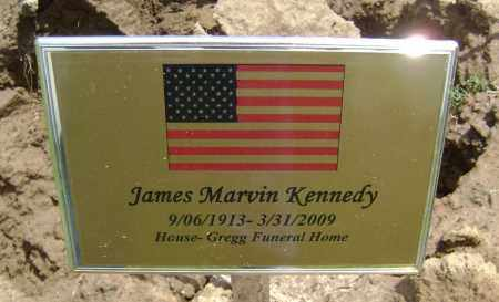 KENNEDY (VETERAN WWII), JAMES MARVIN - Lawrence County, Arkansas | JAMES MARVIN KENNEDY (VETERAN WWII) - Arkansas Gravestone Photos