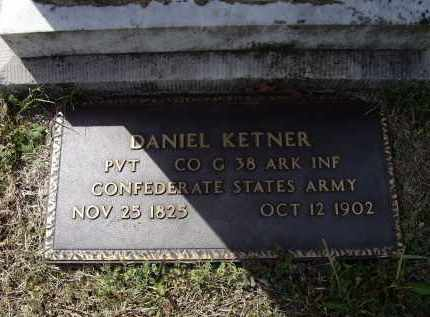 KETNER (VETERAN CSA), DANIEL - Lawrence County, Arkansas | DANIEL KETNER (VETERAN CSA) - Arkansas Gravestone Photos