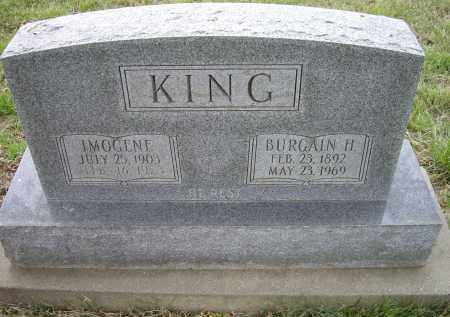 KING, BURGAIN H. - Lawrence County, Arkansas | BURGAIN H. KING - Arkansas Gravestone Photos