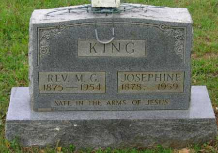 "KING, REV., MONROE GORDON ""M. G."" - Lawrence County, Arkansas 
