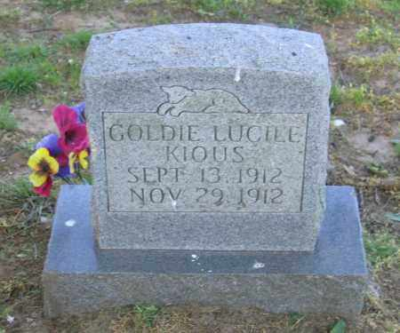 KIOUS, GOLDIE LUCILE - Lawrence County, Arkansas | GOLDIE LUCILE KIOUS - Arkansas Gravestone Photos
