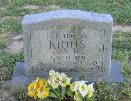 KIOUS, LILE THOMAS - Lawrence County, Arkansas | LILE THOMAS KIOUS - Arkansas Gravestone Photos