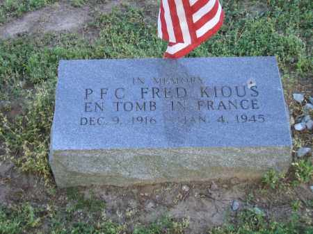 KIOUS (VETERAN WWII), ROSS FRED (CENOTAPH) - Lawrence County, Arkansas | ROSS FRED (CENOTAPH) KIOUS (VETERAN WWII) - Arkansas Gravestone Photos
