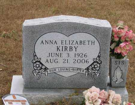 KIRBY, ANNA ELIZABETH - Lawrence County, Arkansas | ANNA ELIZABETH KIRBY - Arkansas Gravestone Photos