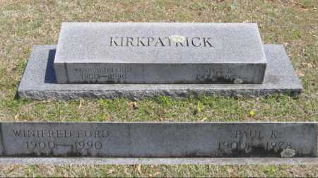 FORD KIRKPATRICK, WINIFRED - Lawrence County, Arkansas | WINIFRED FORD KIRKPATRICK - Arkansas Gravestone Photos