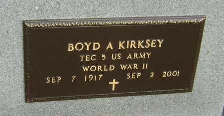 KIRKSEY  (VETERAN WWII), BOYD ANDERSON - Lawrence County, Arkansas | BOYD ANDERSON KIRKSEY  (VETERAN WWII) - Arkansas Gravestone Photos