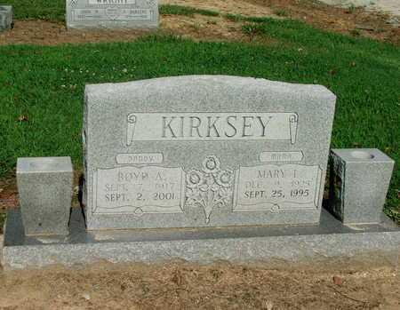 KIRKSEY, BOYD ANDERSON - Lawrence County, Arkansas | BOYD ANDERSON KIRKSEY - Arkansas Gravestone Photos