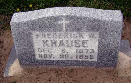 KRAUSE, FREDERICK W. - Lawrence County, Arkansas | FREDERICK W. KRAUSE - Arkansas Gravestone Photos