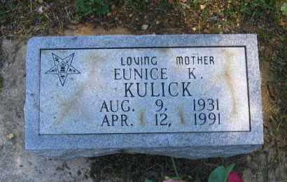 KULICK, EUNICE K. - Lawrence County, Arkansas | EUNICE K. KULICK - Arkansas Gravestone Photos