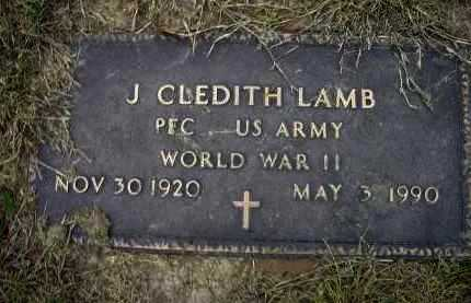 LAMB (VETERAN WWII), JAMES CLEDITH - Lawrence County, Arkansas | JAMES CLEDITH LAMB (VETERAN WWII) - Arkansas Gravestone Photos