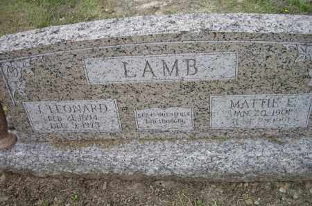 LAMB, MATTIE E. - Lawrence County, Arkansas | MATTIE E. LAMB - Arkansas Gravestone Photos