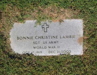 LAMBIE (VETERAN WWII), BONNIE CHRISTINE - Lawrence County, Arkansas | BONNIE CHRISTINE LAMBIE (VETERAN WWII) - Arkansas Gravestone Photos
