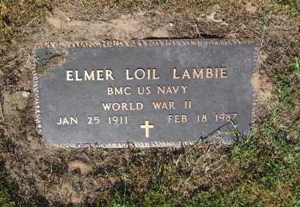LAMBIE (VETERAN WWII), ELMER LOIL - Lawrence County, Arkansas | ELMER LOIL LAMBIE (VETERAN WWII) - Arkansas Gravestone Photos