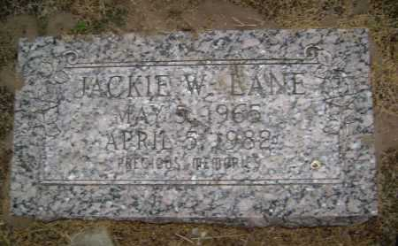 LANE, JACKIE W. - Lawrence County, Arkansas | JACKIE W. LANE - Arkansas Gravestone Photos
