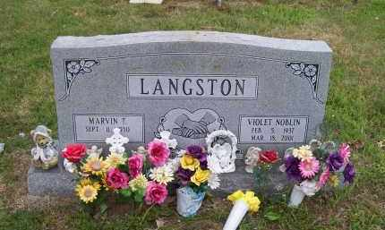 NOBLIN LANGSTON, VIOLET - Lawrence County, Arkansas | VIOLET NOBLIN LANGSTON - Arkansas Gravestone Photos