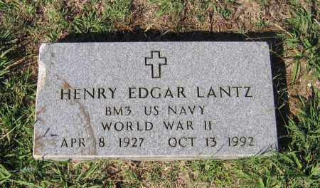 LANTZ (VETERAN WWII), HENRY EDGAR - Lawrence County, Arkansas | HENRY EDGAR LANTZ (VETERAN WWII) - Arkansas Gravestone Photos