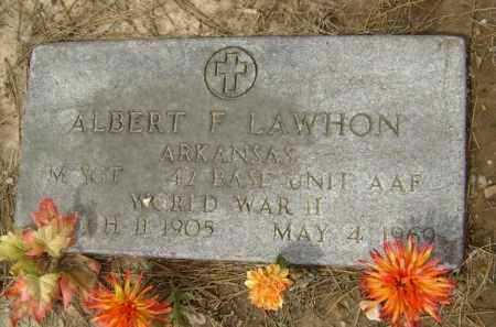 LAWHON  (VETERAN WWII), ALBERT F. - Lawrence County, Arkansas | ALBERT F. LAWHON  (VETERAN WWII) - Arkansas Gravestone Photos