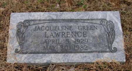 GREEN LAWRENCE, JACQUELINE - Lawrence County, Arkansas | JACQUELINE GREEN LAWRENCE - Arkansas Gravestone Photos