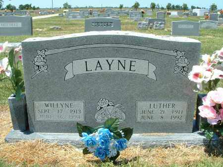 LAYNE, SARAH WILLYNE - Lawrence County, Arkansas | SARAH WILLYNE LAYNE - Arkansas Gravestone Photos