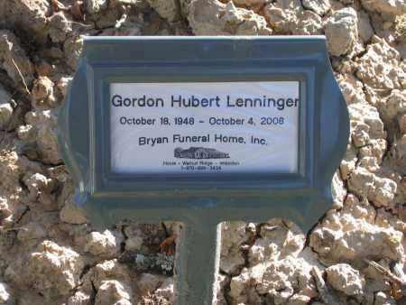 LENNINGER, GORDON HUBERT - Lawrence County, Arkansas | GORDON HUBERT LENNINGER - Arkansas Gravestone Photos