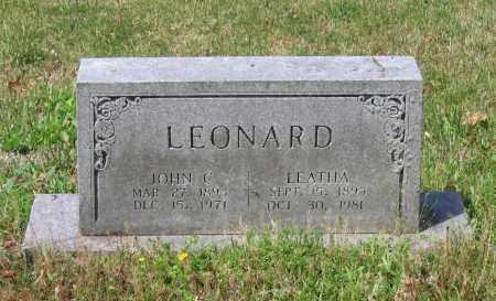 LEONARD, JOHN C. - Lawrence County, Arkansas | JOHN C. LEONARD - Arkansas Gravestone Photos