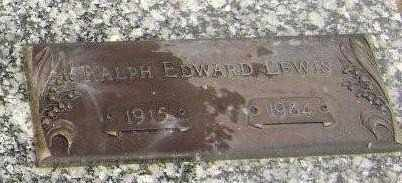 LEWIS, RALPH EDWARD - Lawrence County, Arkansas | RALPH EDWARD LEWIS - Arkansas Gravestone Photos