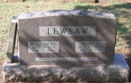 "LEWSAW, WILLIAM GREEN ""BILLY"" - Lawrence County, Arkansas 