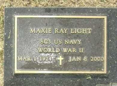 LIGHT  (VETERAN WWII), MAXIE RAY - Lawrence County, Arkansas | MAXIE RAY LIGHT  (VETERAN WWII) - Arkansas Gravestone Photos