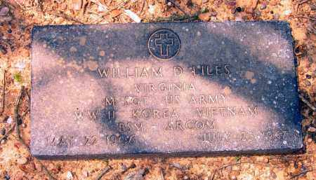 LILES (VETERAN 3 WARS), WILLIAM D - Lawrence County, Arkansas | WILLIAM D LILES (VETERAN 3 WARS) - Arkansas Gravestone Photos