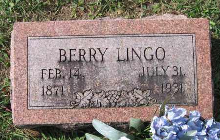 LINGO, BERRY - Lawrence County, Arkansas | BERRY LINGO - Arkansas Gravestone Photos