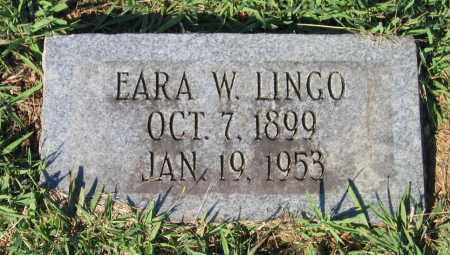 LINGO, EARA - Lawrence County, Arkansas | EARA LINGO - Arkansas Gravestone Photos