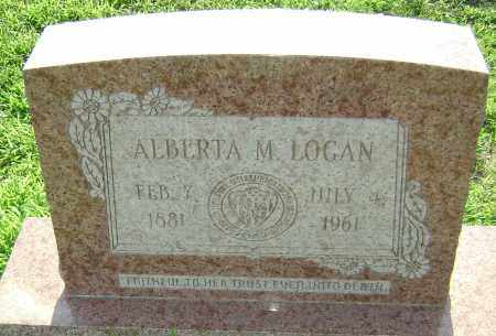LOGAN, ALBERTA M. - Lawrence County, Arkansas | ALBERTA M. LOGAN - Arkansas Gravestone Photos