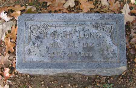 LONG, RAY H. - Lawrence County, Arkansas | RAY H. LONG - Arkansas Gravestone Photos