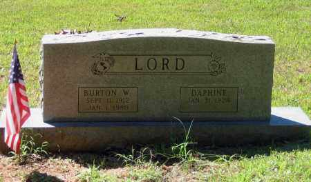 LORD, BURTON W. - Lawrence County, Arkansas | BURTON W. LORD - Arkansas Gravestone Photos
