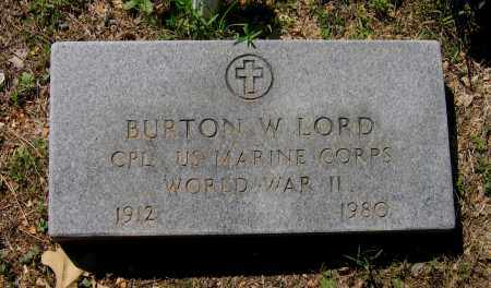LORD (VETERAN WWII), BURTON W. - Lawrence County, Arkansas | BURTON W. LORD (VETERAN WWII) - Arkansas Gravestone Photos