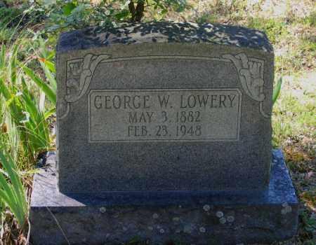 LOWERY, GEORGE WASHINGTON - Lawrence County, Arkansas | GEORGE WASHINGTON LOWERY - Arkansas Gravestone Photos