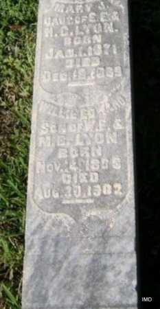 LYON, WILLIAM EDWARD - Lawrence County, Arkansas | WILLIAM EDWARD LYON - Arkansas Gravestone Photos