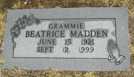 MADDEN, BEATRICE - Lawrence County, Arkansas | BEATRICE MADDEN - Arkansas Gravestone Photos