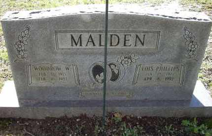 MALDEN, WOODROW W. - Lawrence County, Arkansas | WOODROW W. MALDEN - Arkansas Gravestone Photos