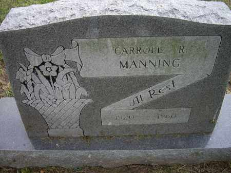 MANNING, CARROLL R. - Lawrence County, Arkansas | CARROLL R. MANNING - Arkansas Gravestone Photos