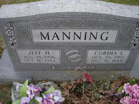 MANNING, CORDIA L. - Lawrence County, Arkansas | CORDIA L. MANNING - Arkansas Gravestone Photos