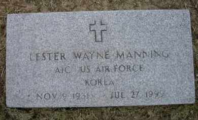 MANNING (VETERAN KOR), LESTER WAYNE - Lawrence County, Arkansas | LESTER WAYNE MANNING (VETERAN KOR) - Arkansas Gravestone Photos