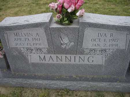 MANNING, MELVIN A. - Lawrence County, Arkansas | MELVIN A. MANNING - Arkansas Gravestone Photos