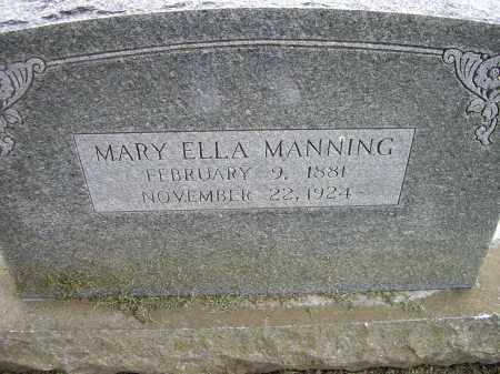 MANNING, MARY ELLA - Lawrence County, Arkansas | MARY ELLA MANNING - Arkansas Gravestone Photos